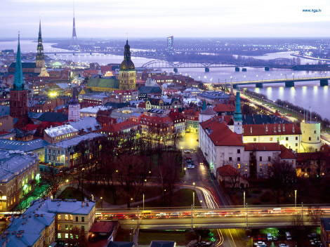 St Peter Kilisesi'nden Riga
